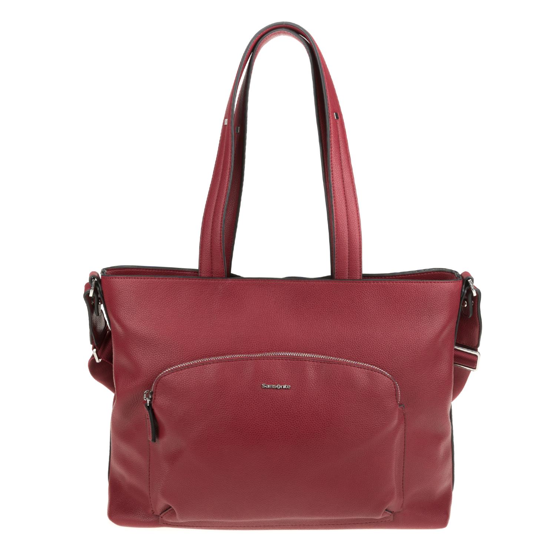 40b89c99224 SAMSONITE – Γυναικεία τσάντα ώμου SAMARA SAMSONITE μπορντό