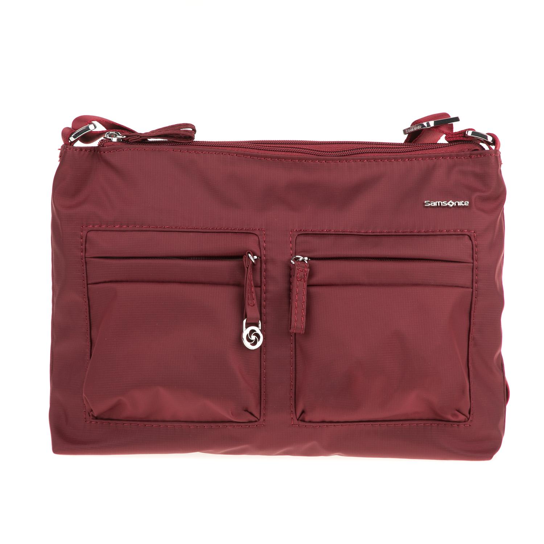 SAMSONITE - Γυναικεία τσάντα χιαστί MOVE 2 SAMSONITE μπορντό γυναικεία αξεσουάρ τσάντες σακίδια ταξιδίου