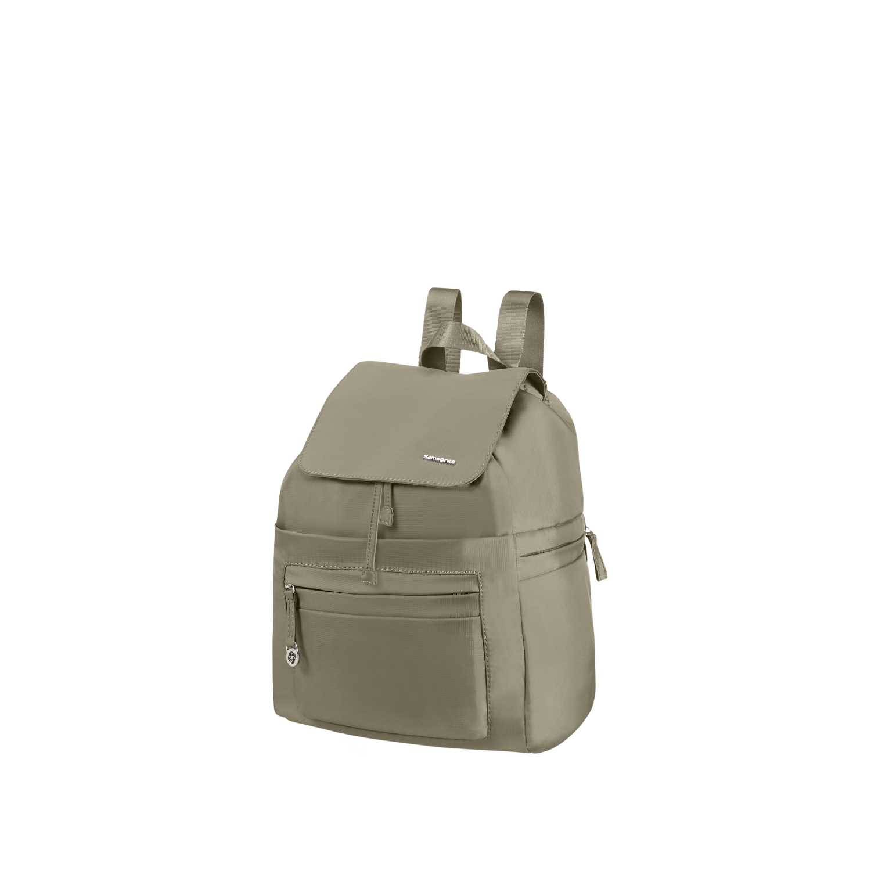 SAMSONITE (TRAVEL) - Γυναικεία τσάντα πλάτης SAMSONITE KARISSA χακί γυναικεία αξεσουάρ τσάντες σακίδια ταξιδίου