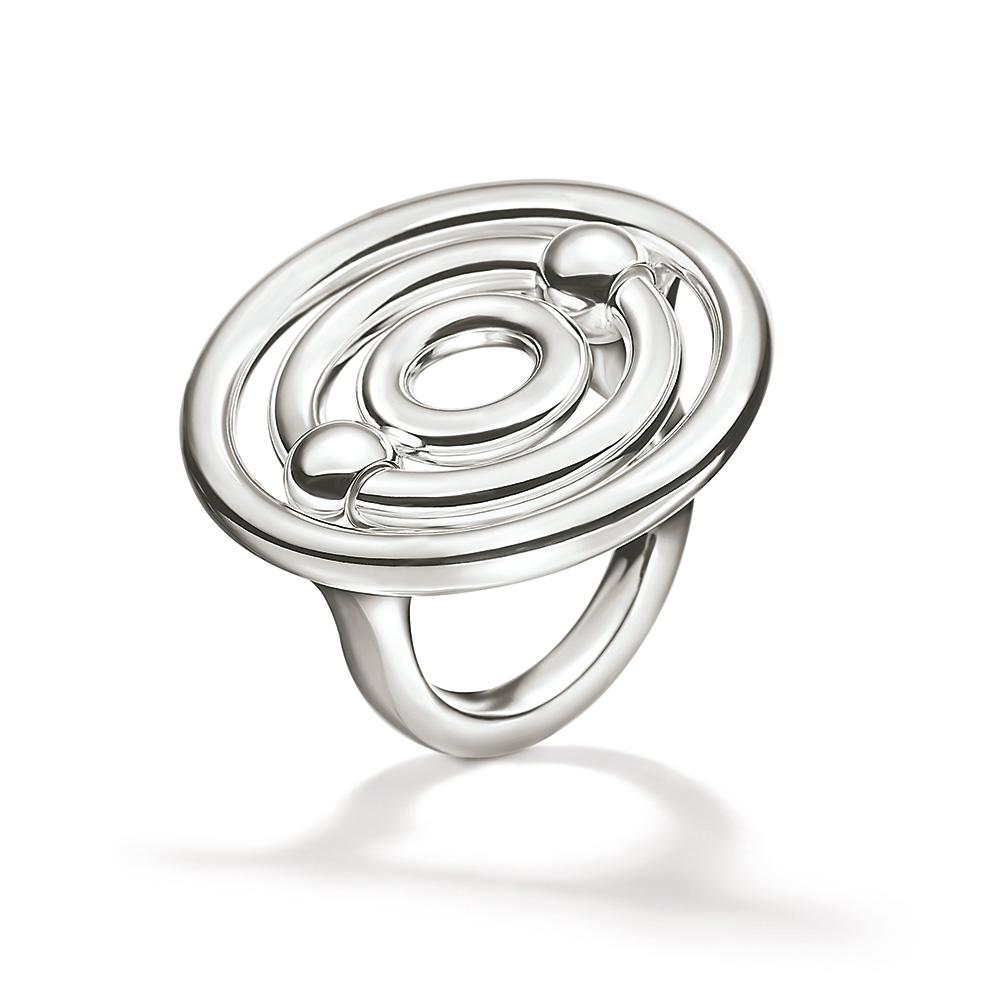 b293da8620 FOLLI FOLLIE – Γυναικείο επάργυρο μεγάλο δαχτυλίδι με κύκλους FOLLI FOLLIE  BONDS ασημί