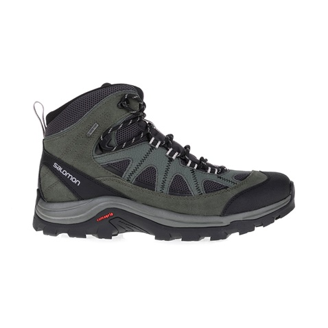 SALOMON-Ανδρικά μποτάκια BACKPACKING SHOES AUTHENTIC SALOMON μαύρα-χακί