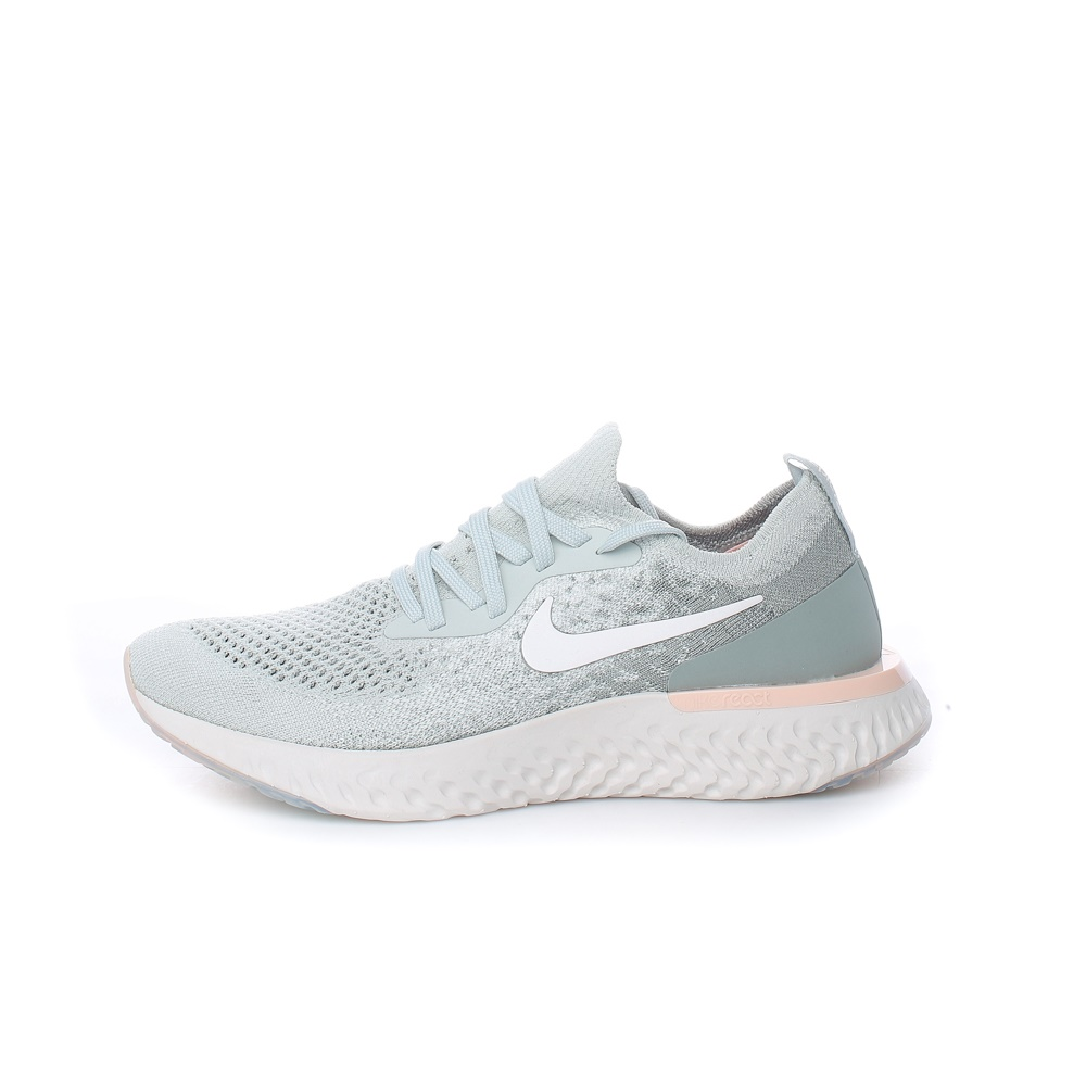 NIKE – Γυναικεία παπούτσια NIKE EPIC REACT FLYKNIT ασημί μπεζ