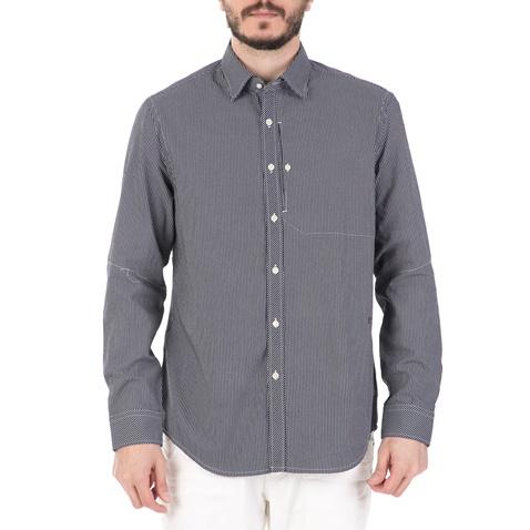 82a2d83b6bf5 Ανδρικό μακρυμάνικο πουκάμισο G-STAR RAW BRISTUM REF STRAIGHT λευκό-μπλε  (1623998.0-1195)