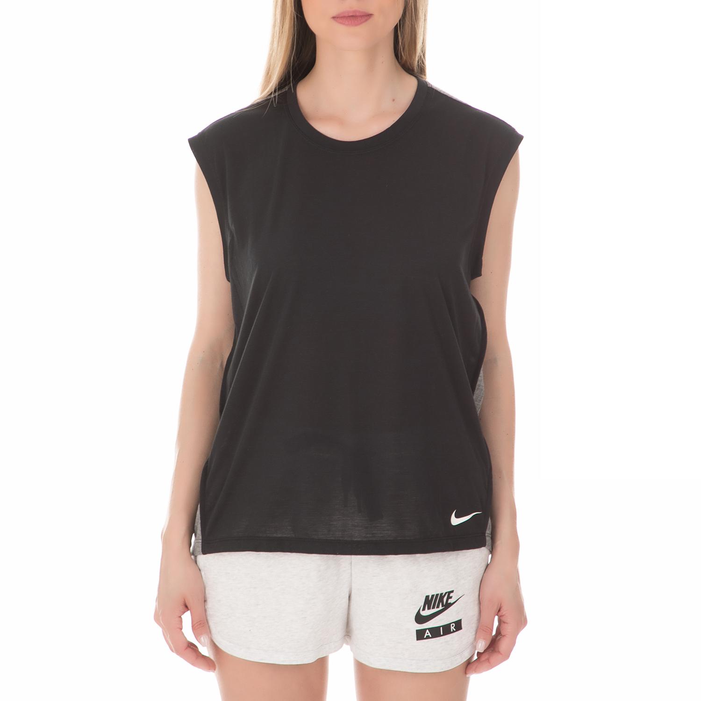 NIKE - Γυναικεία αμάνικη μπλούζα NIKE BREATHE μαύρη γυναικεία ρούχα μπλούζες αμάνικες