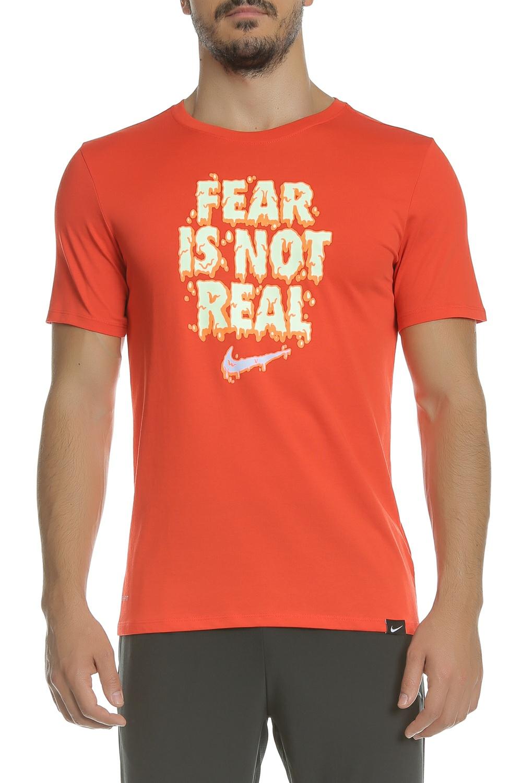 fa42287172e5 NIKE - Ανδρική κοντομάνικη μπλούζα NIKE DRY TEE KI FEAR IS NOT κόκκινη