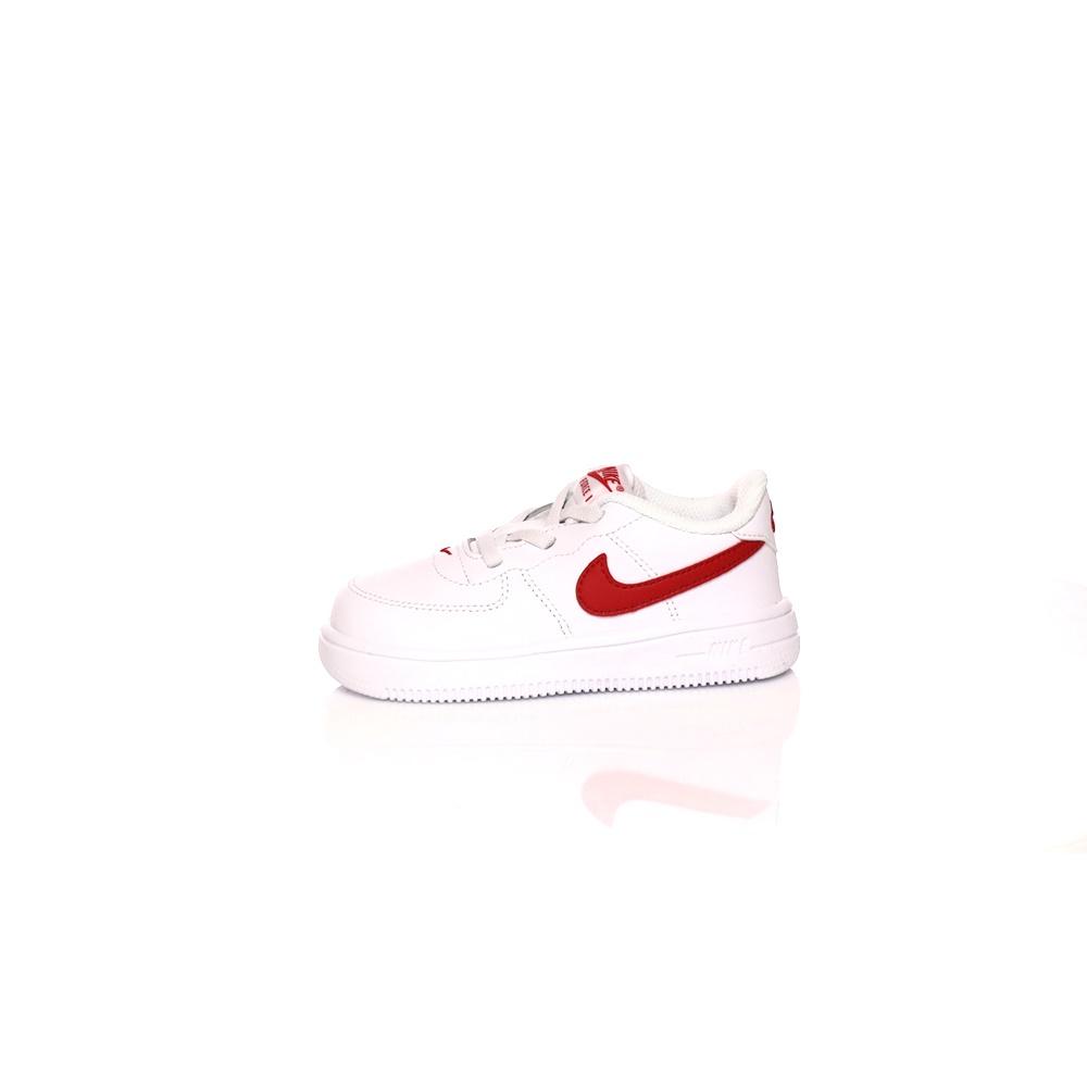 NIKE – Βρεφικά παπούτσια NIKE FORCE 1 '18 (TD) λευκά-κόκκινα