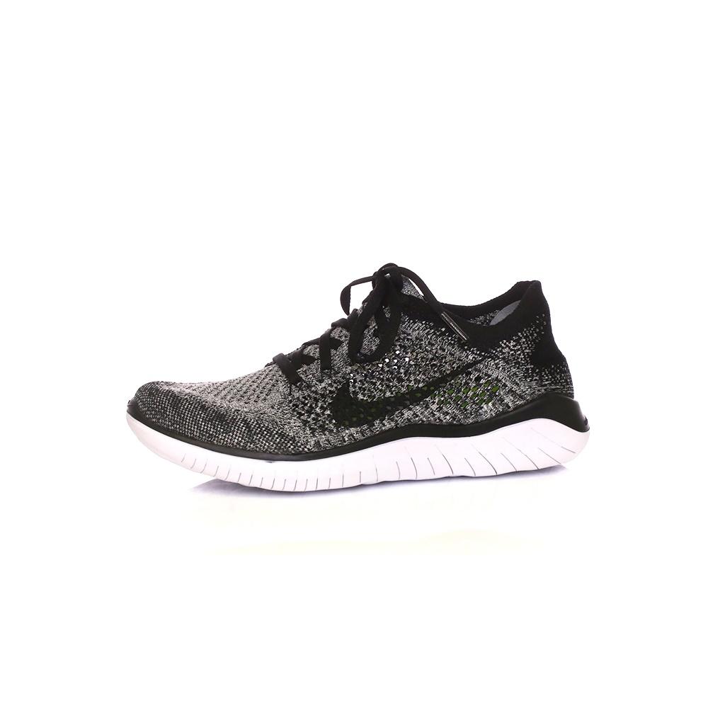 NIKE – Γυναικεία παπούτσια running NIKE FREE RN FLYKNIT 2018 μαύρα-γκρι
