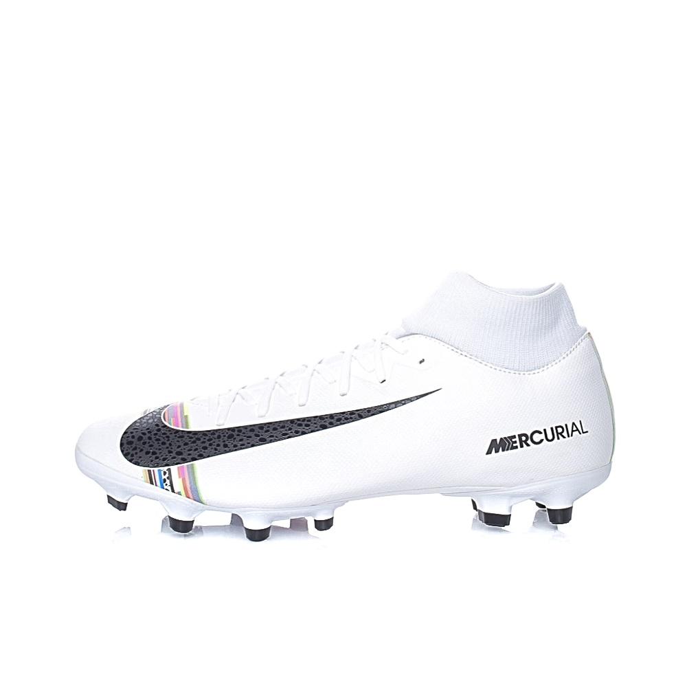 NIKE – Ανδρικά ποδοσφαιρικά παπούτσια NIKE CR7 Superfly 6 Academy λευκά-μαύρα