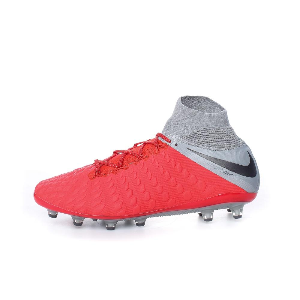 NIKE – Ανδρικά παπούτσια ποδοσφαίρου HYPERVENOM 3 ELITE DF AG-PRO κόκκινα-γκρι
