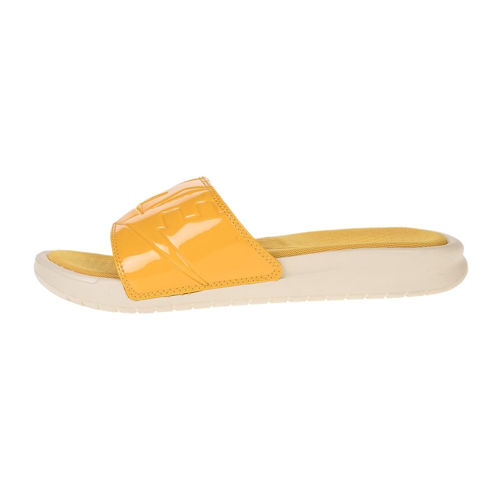NIKE – Γυναικείες παντόφλες NIKE BENASSI JDI ULTRA LUX κίτρινες