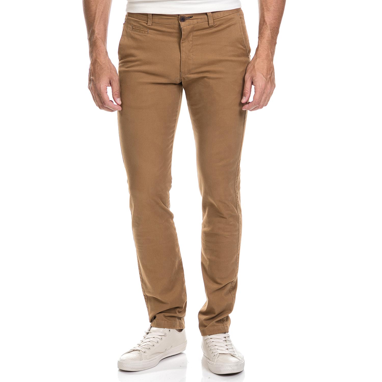 DORS - Ανδρικό παντελόνι chino Dors καφέ ανδρικά ρούχα παντελόνια chinos