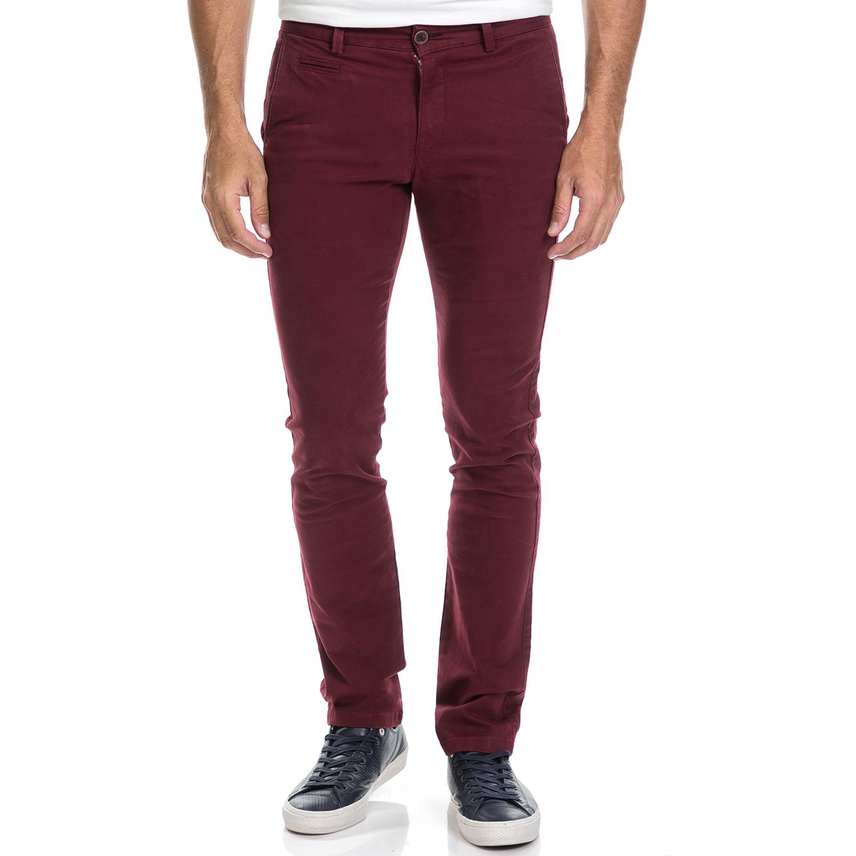 DORS - Ανδρικό παντελόνι chino Dors μπορντό ανδρικά ρούχα παντελόνια chinos