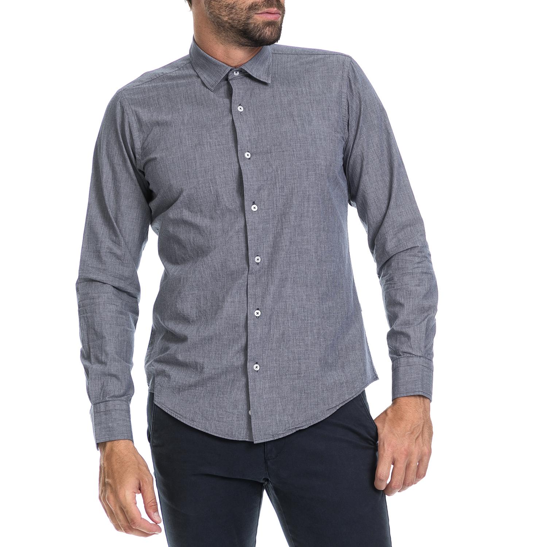 DORS - Ανδρικό πουκάμισο Dors μπλε ανδρικά ρούχα πουκάμισα μακρυμάνικα
