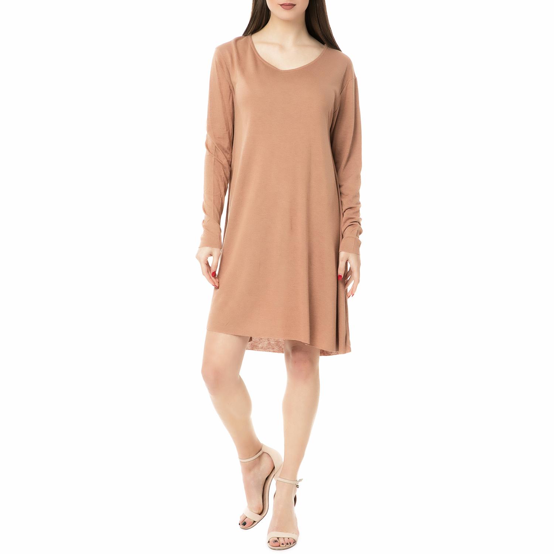 6082b9601673 AMERICAN VINTAGE – Γυναικείο μίνι φόρεμα VEL69H16 AMERICAN VINTAGE μπεζ