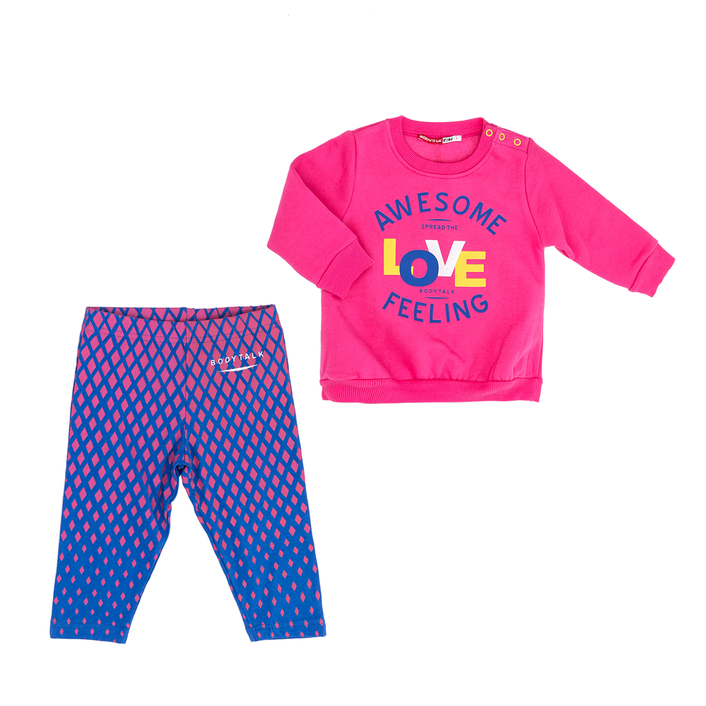 BODYTALK - Παιδικό σετ BODYTALK ροζ-μπλε παιδικά girls ρούχα αθλητικά