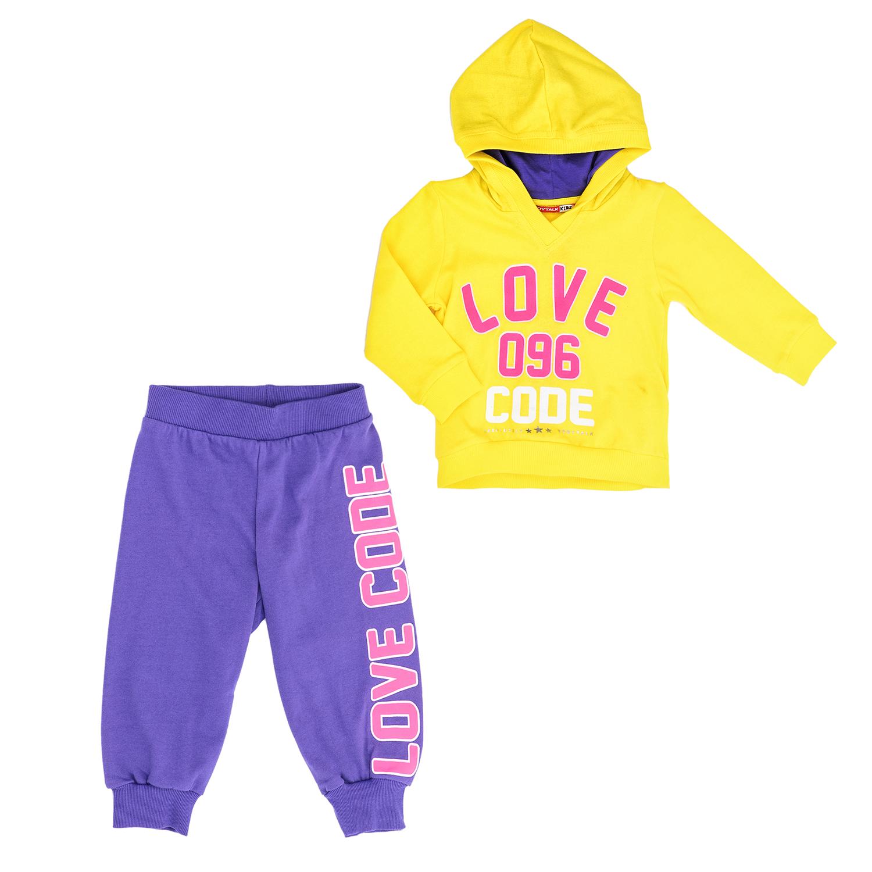 BODYTALK - Παιδικό σετ BODYTALK κίτρινο-μοβ παιδικά girls ρούχα αθλητικά