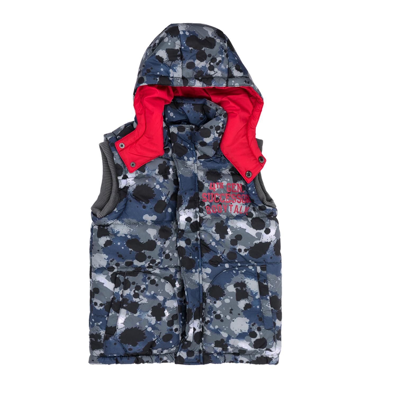 BODYTALK - Παιδικό αμάνικο μπουφάν BODYTALK μπλε-γκρι παιδικά boys ρούχα πανωφόρια