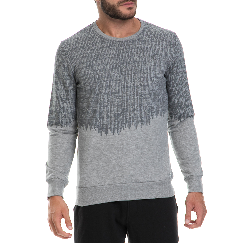 BODYTALK - Ανδρικό πουλόβερ BODYTALK γκρι ανδρικά ρούχα πλεκτά ζακέτες πουλόβερ