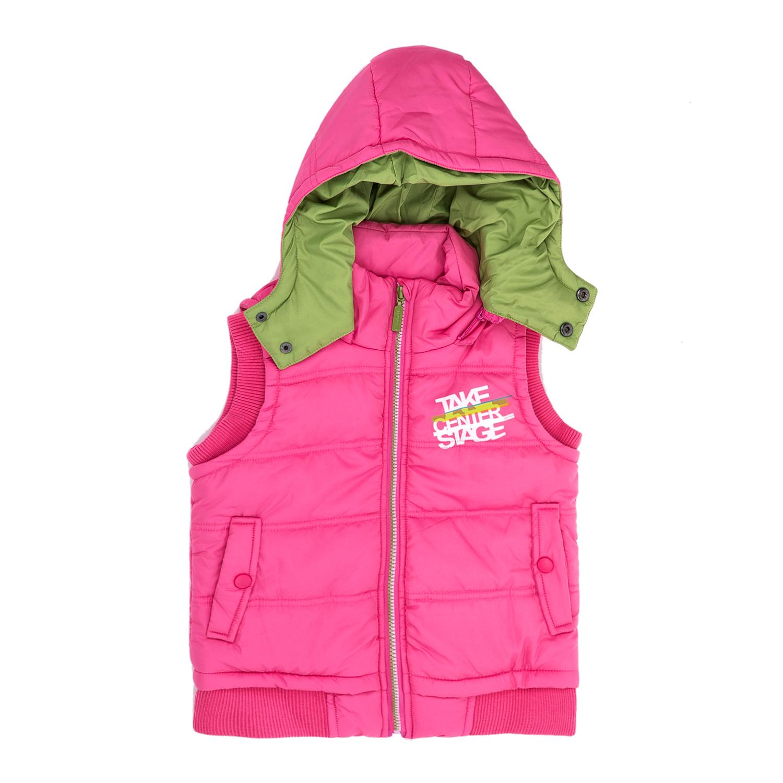 BODYTALK - Παιδικό αμάνικο μπουφάν BODYTALK ροζ παιδικά girls ρούχα πανωφόρια