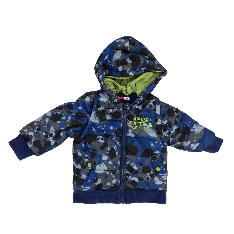 BODYTALK - Παιδικό μπουφάν BODYTALK μπλε-γκρι παιδικά boys ρούχα πανωφόρια