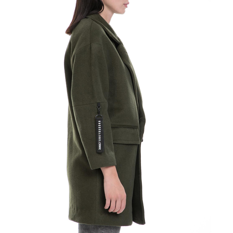 dd29e74d00b5 FUNKY BUDDA - Γυναικείο παλτό FUNKY BUDDA χακί