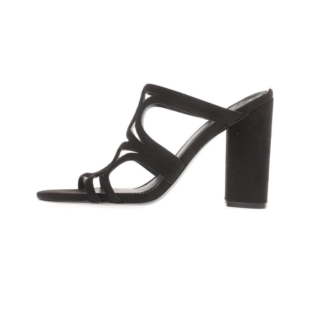 2ee880653325 GUESS - Γυναικεία peep toe mules ANTONYA GUESS μαύρα