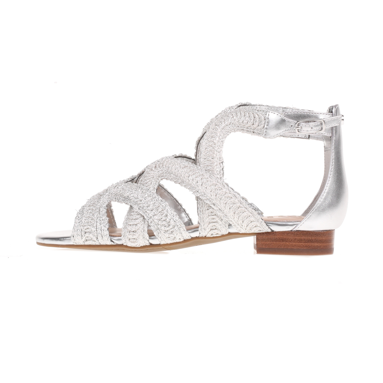7609111360d GUESS - Γυναικεία σανδάλια DARIO GUESS ασημί - Roe Shoes Collection
