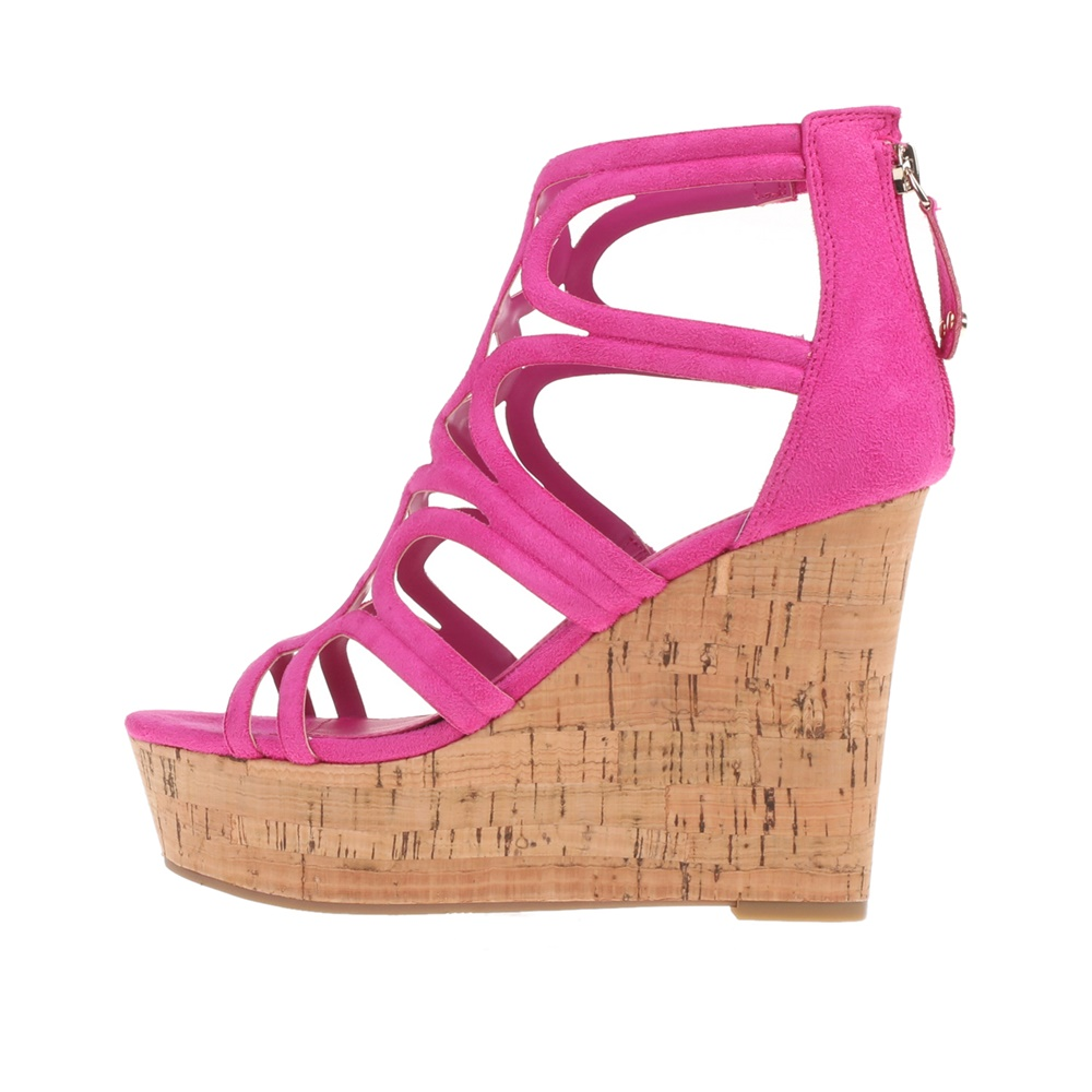 GUESS - Γυναικείες πλατφόρμες GEDDY GUESS φούξια - Roe Shoes Collection 019c450b006