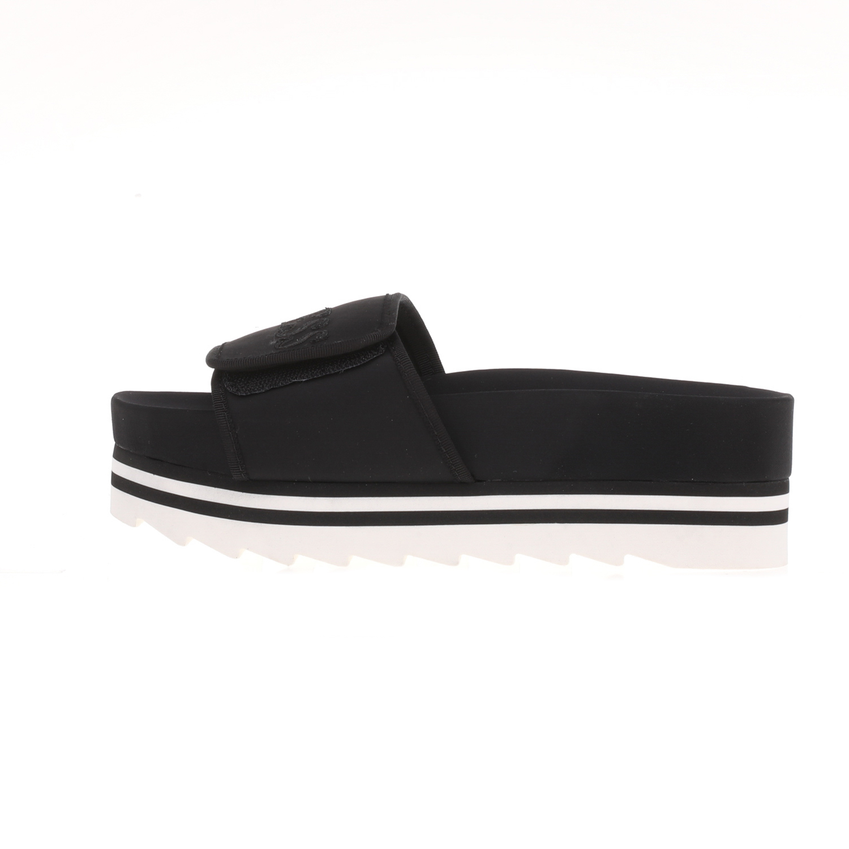 GUESS - Γυναικεία δίπατα slides HALLIE2 GUESS μαύρα γυναικεία παπούτσια σαγιονάρες slides casual