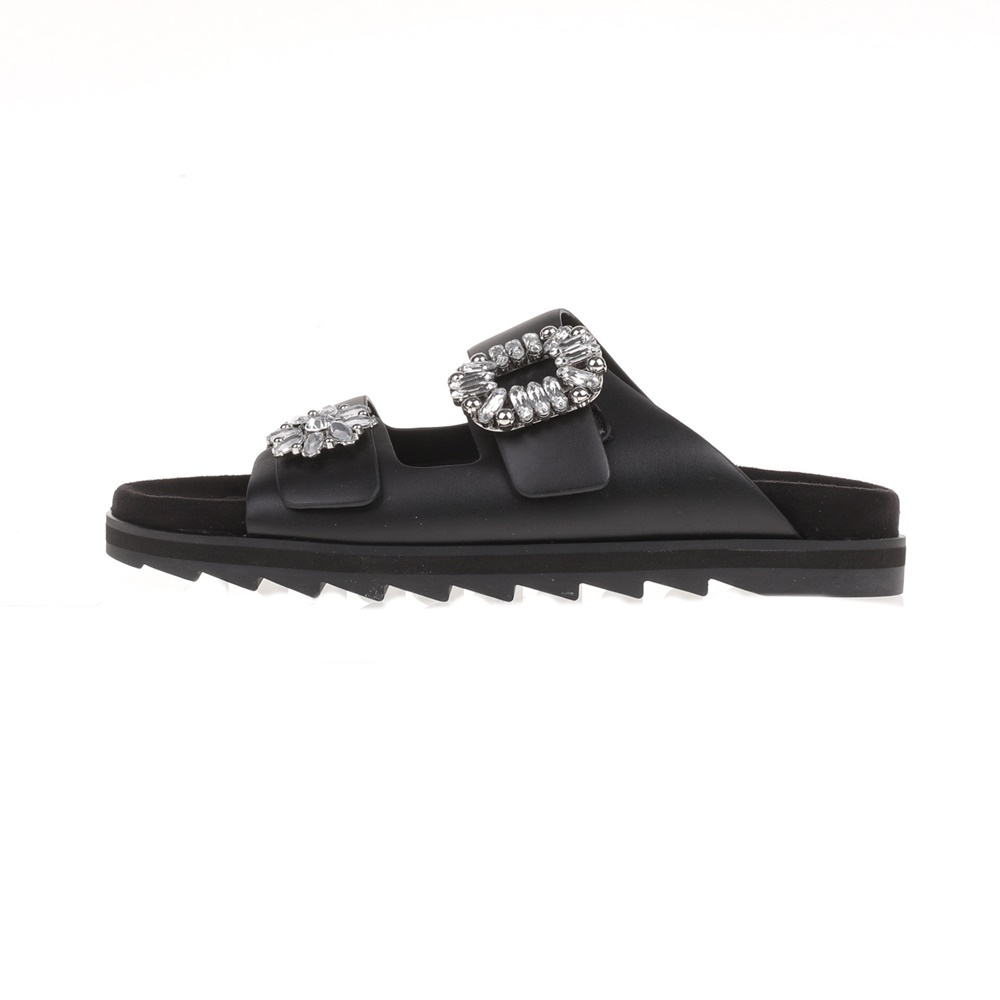 GUESS - Γυναικεία slides CAMBRIE GUESS μαύρα γυναικεία παπούτσια σαγιονάρες slides casual