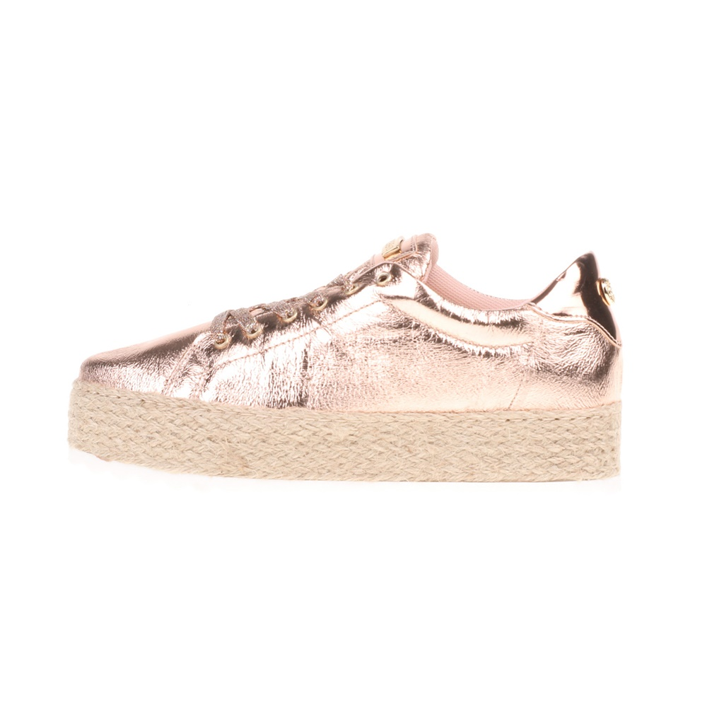 eba9b879945 GUESS - Γυναικεία sneakers MIRIAM GUESS ροζ-χρυσά