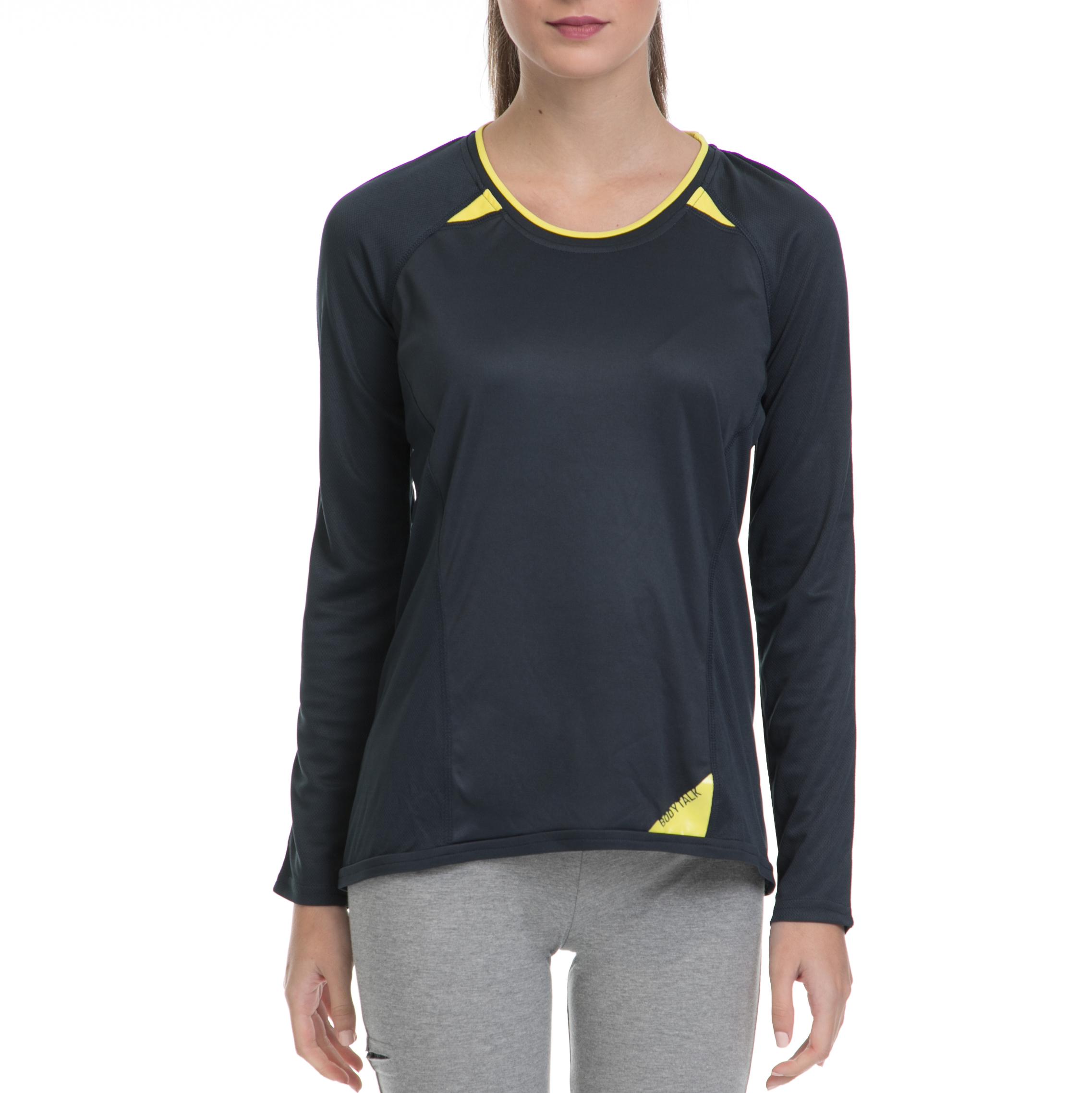 BODYTALK - Γυναικεία αθλητική μπλούζα PLAYGROUNDW BODYTALK γκρι γυναικεία ρούχα αθλητικά φούτερ μακρυμάνικα