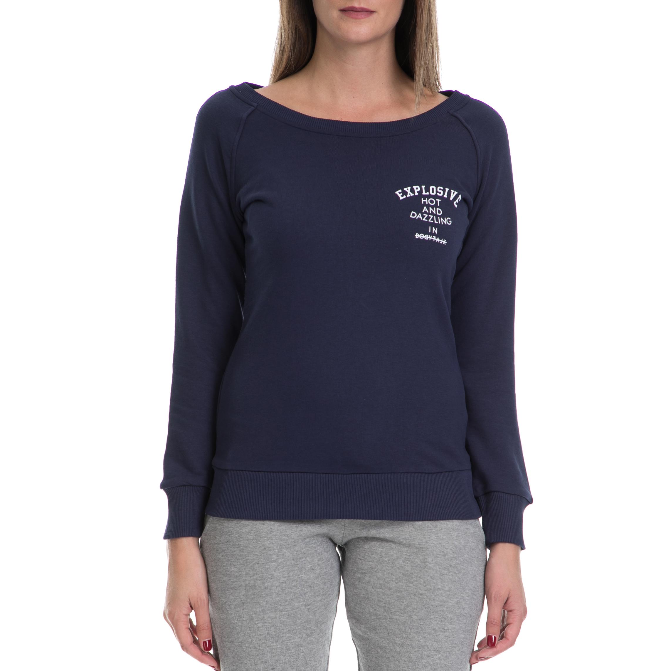 BODYTALK - Γυναικεία μπλούζα BODYTALK μπλε γυναικεία ρούχα αθλητικά φούτερ μακρυμάνικα