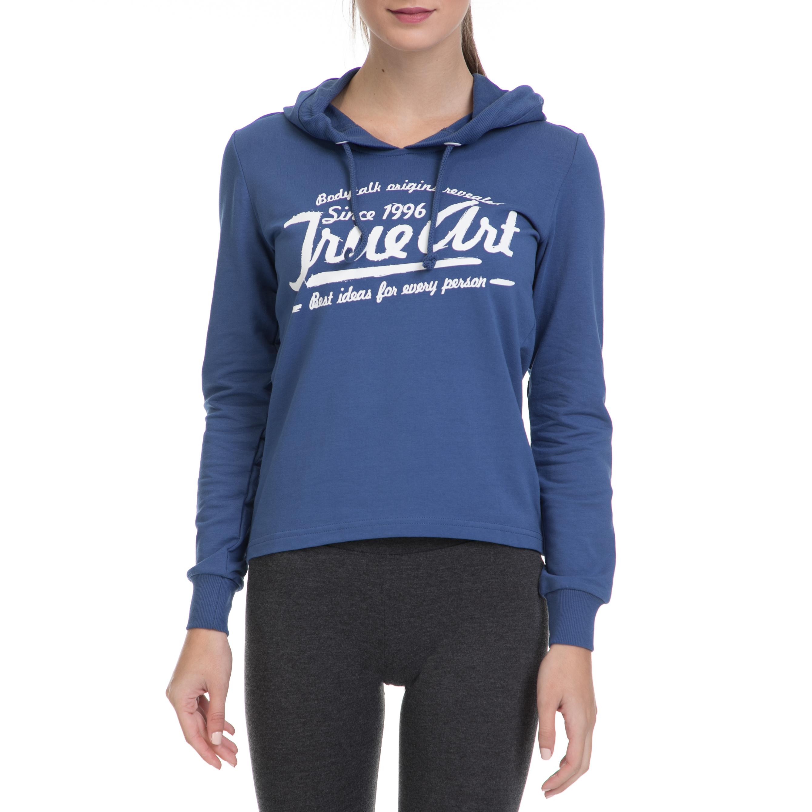 BODYTALK - Γυναικεία αθλητική μπλούζα ARTW BODYTALK μπλε γυναικεία ρούχα αθλητικά φούτερ μακρυμάνικα