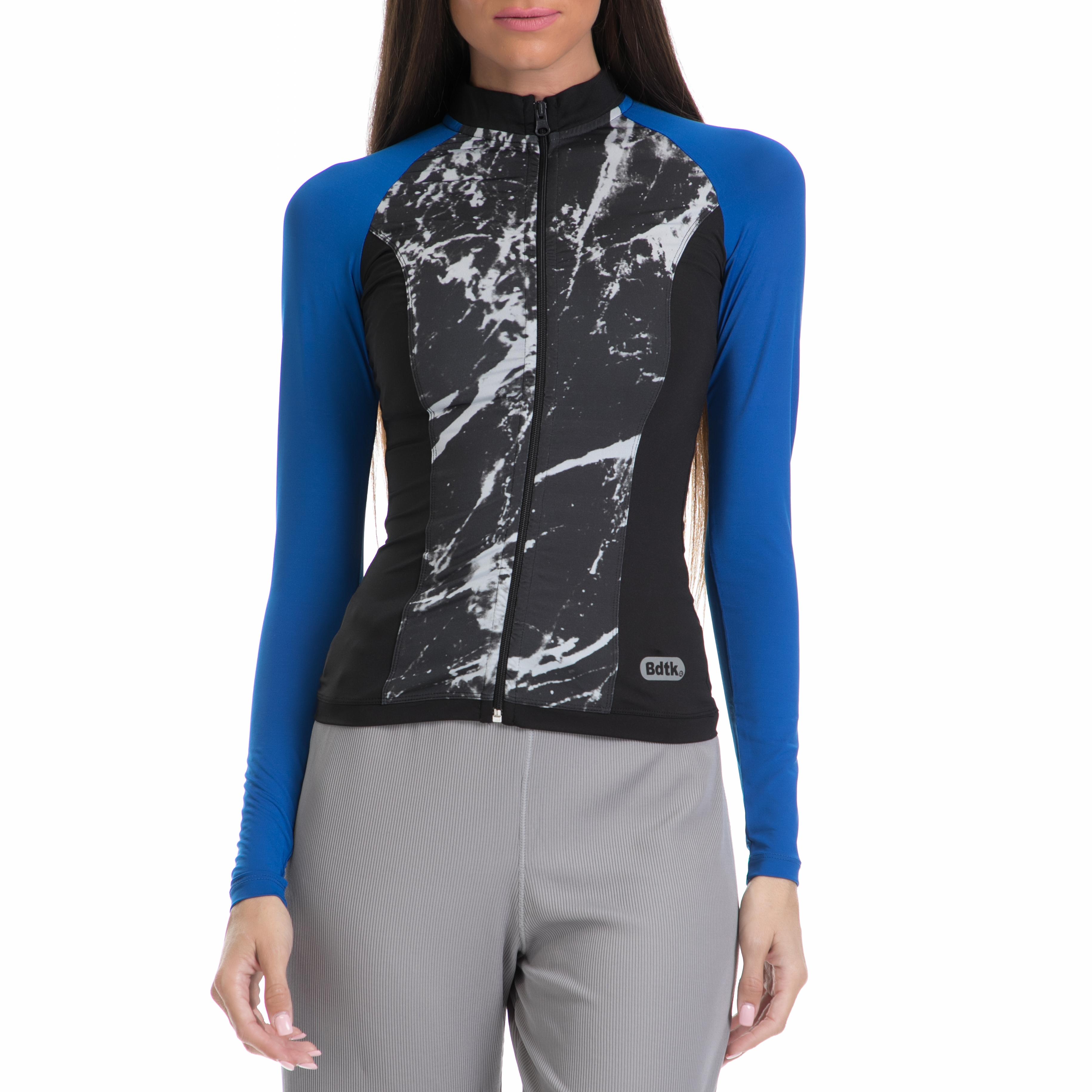 BODYTALK - Γυναικεία ζακέτα BODYTALK μπλε-μαύρη γυναικεία ρούχα αθλητικά φούτερ μακρυμάνικα
