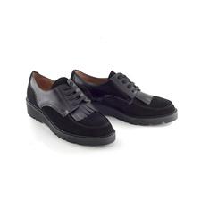 CHANIOTAKIS-Γυναικεία παπούτσια OXFORD SOFTY μαύρα