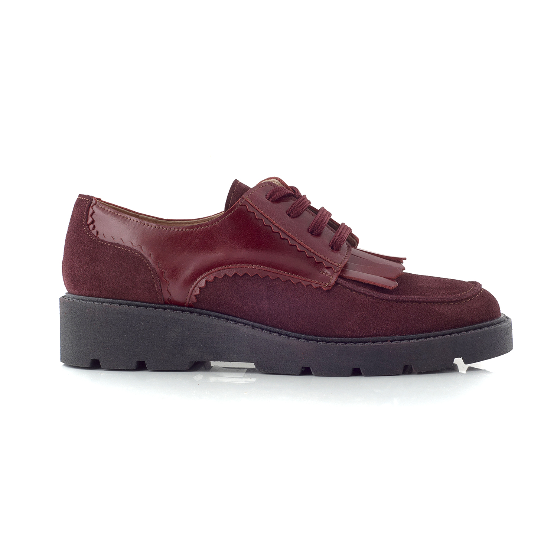 CHANIOTAKIS – Γυναικεία παπούτσια OXFORD SOFTY μπορντώ