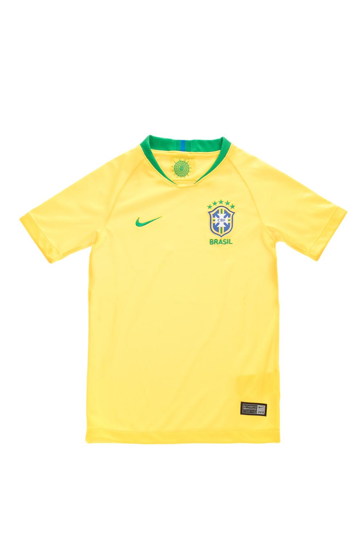NIKE - Παιδική εμφάνιση ποδοσφαίρου NIKE BRASIL BRT STAD JSY SS κίτρινη παιδικά boys ρούχα αθλητικά