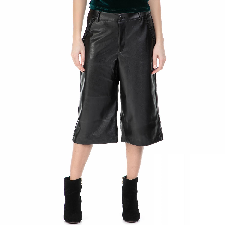MYMOO - Ζιπ κιλότ MYMOO μαύρη γυναικεία ρούχα παντελόνια cropped