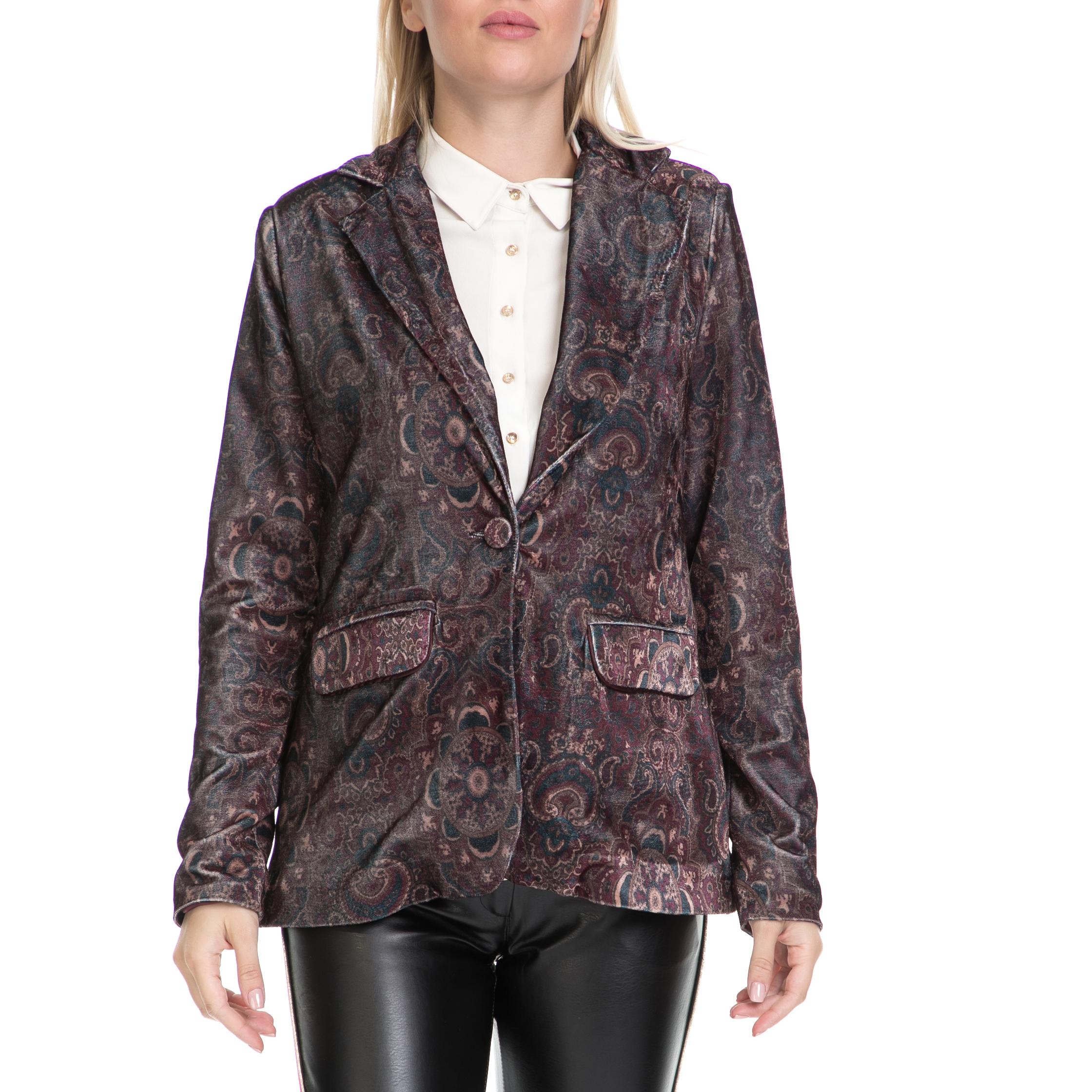 MYMOO - Γυναικείο σακάκι MYMOO μοβ-γκρι γυναικεία ρούχα πανωφόρια σακάκια