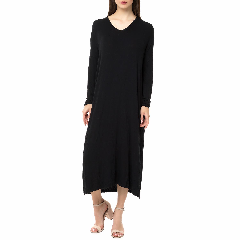 AMERICAN VINTAGE - Γυναικείο μάξι φόρεμα ALBA66H16ROBE AMERICAN VINTAGE μαύρο γυναικεία ρούχα φορέματα μάξι