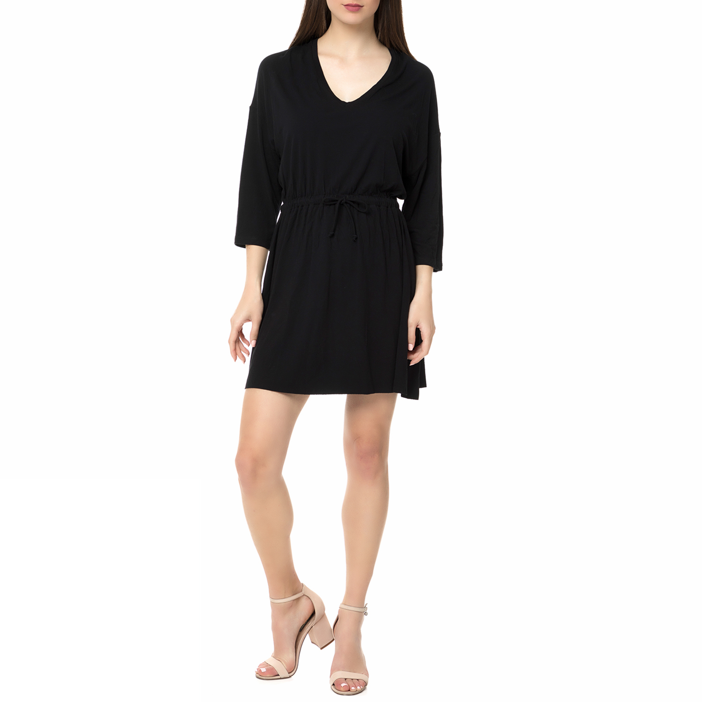AMERICAN VINTAGE - Γυναικείο μίνι φόρεμα CASA70H16 AMERICAN VINTAGE μαύρο γυναικεία ρούχα φορέματα μίνι