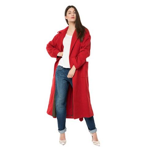 afe21abe661 Γυναικείο μακρύ παλτό CHIC401H16 AMERICAN VINTAGE κόκκινο (1627800.0 ...