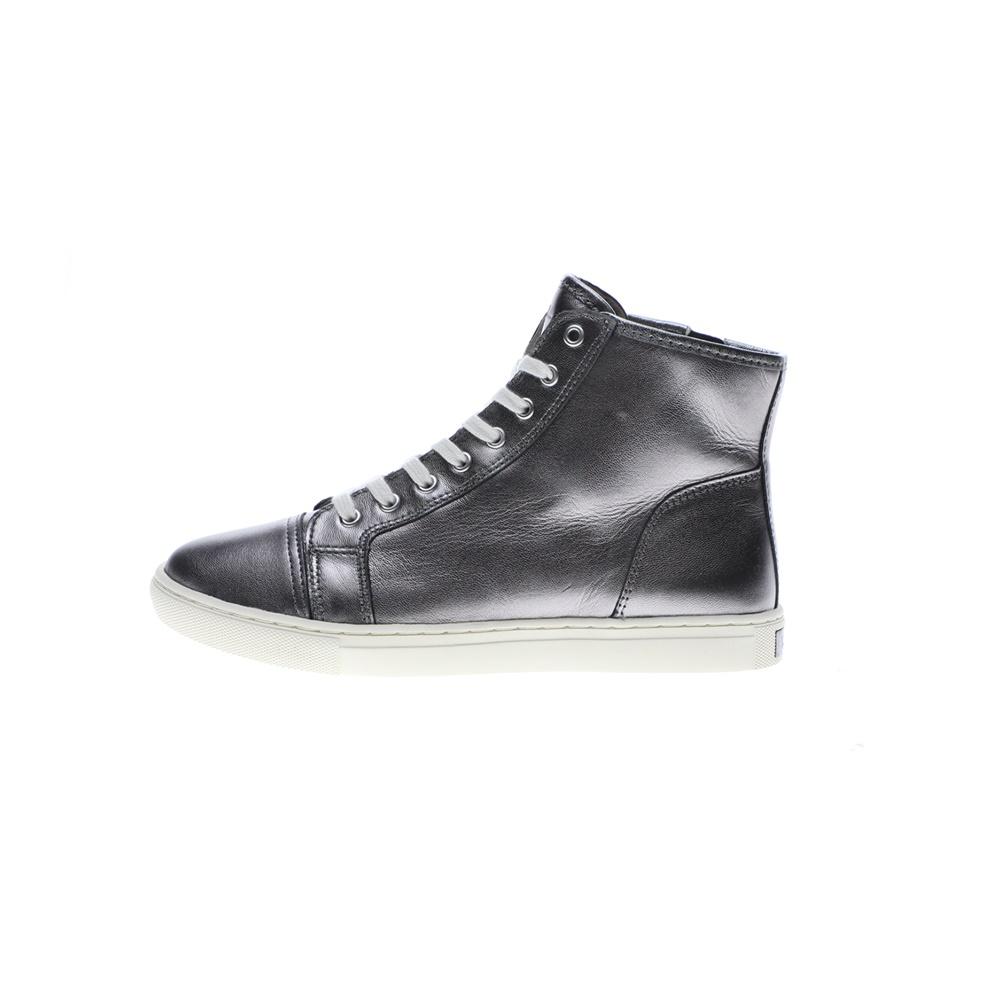 POLO RALPH LAUREN – Γυναικεία ψηλά sneakers POLO RALPH LAUREN WINNEFRED γκρι ασημί