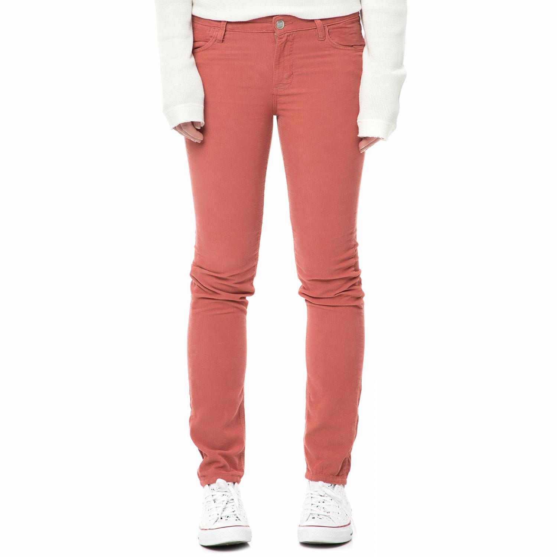 REIKO - Γυναικείο κοτλέ παντελόνι REIKO NELLYVELVETH16 ροζ-σομόν γυναικεία ρούχα παντελόνια skinny