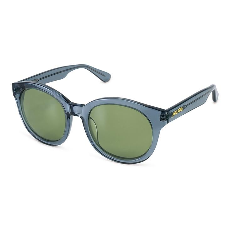 da718d5f3e FOLLI FOLLIE. Γυναικεία στρογγυλά γυαλιά ηλίου Folli Follie ημιδιάφανα μπλε