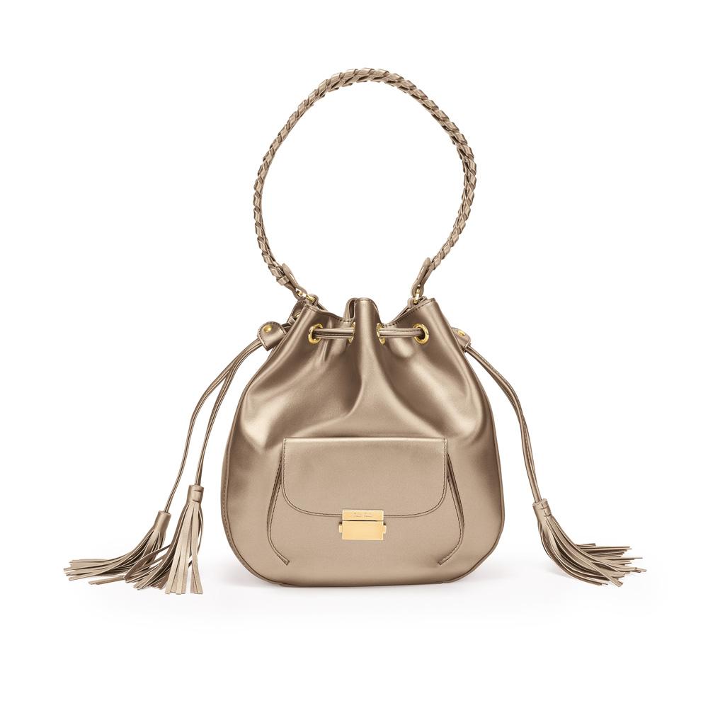 691924705f FOLLI FOLLIE – Γυναικεία τσάντα πουγκί FOLLI FOLLIE χρυσή. Factory Outlet