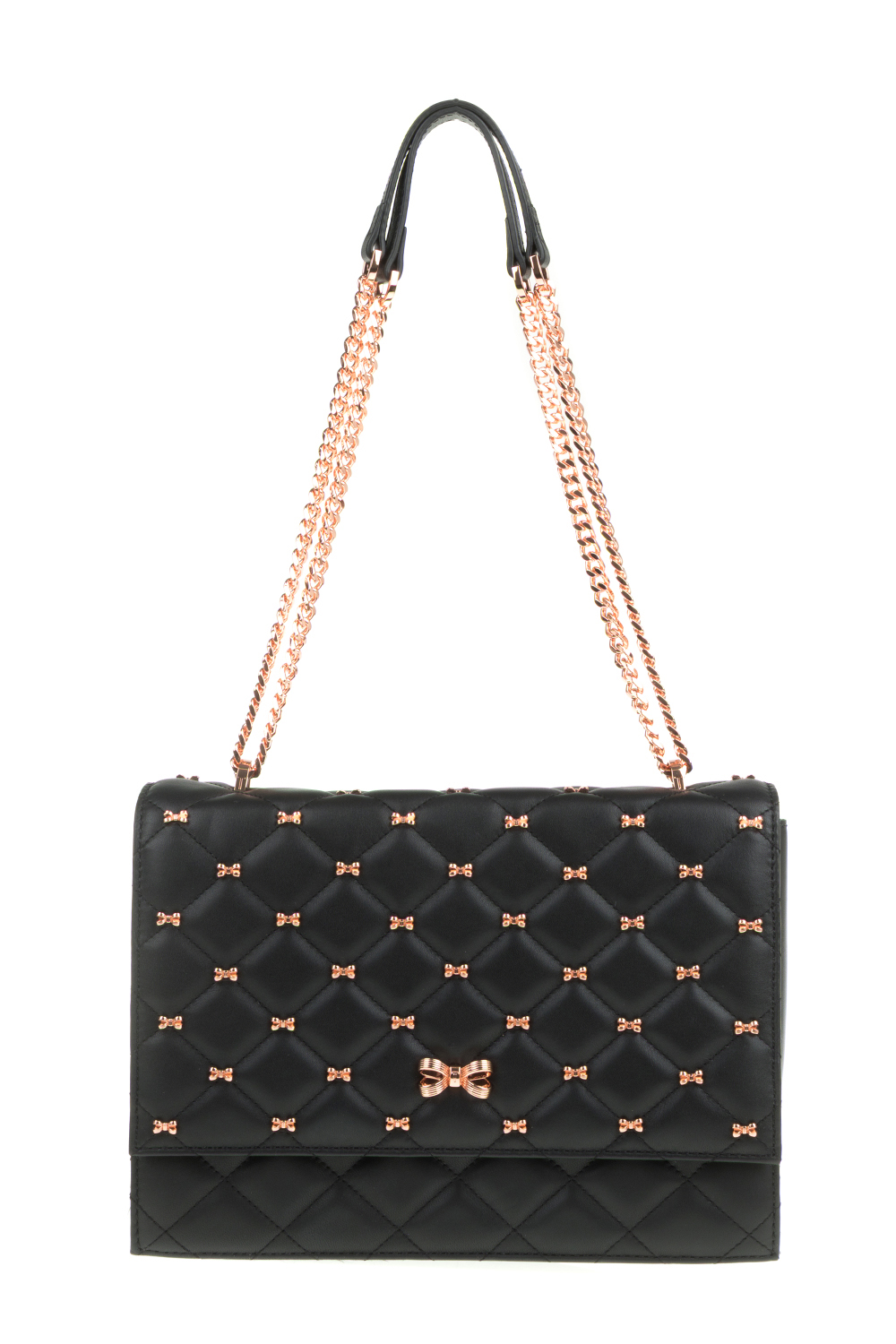1c7508637ae TED BAKER - Γυναικεία τσάντα ώμου BRIIANA BOW QUILTED TED BAKER μαύρη