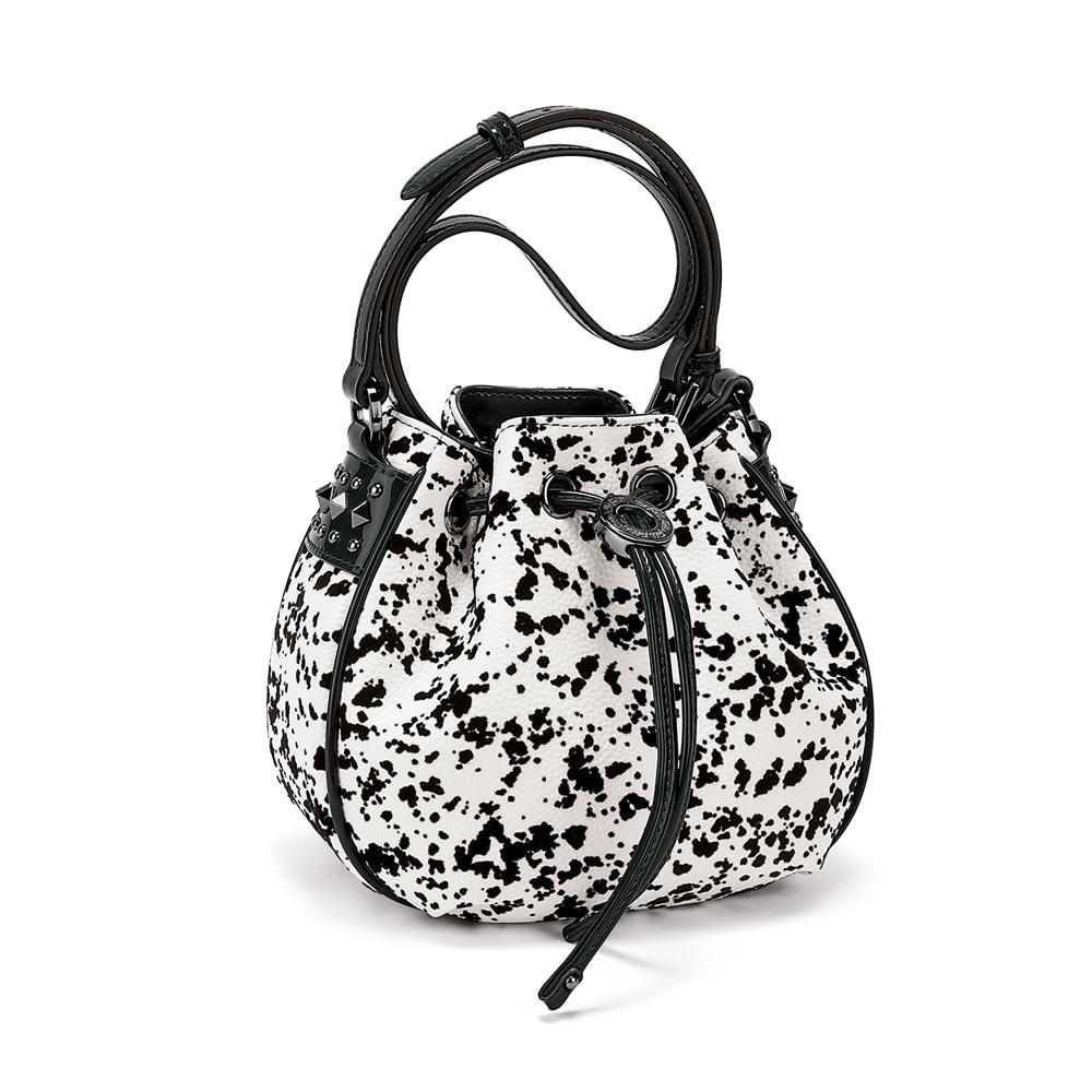 FOLLI FOLLIE - Γυναικεία τσάντα ώμου FOLLI FOLLIE ασπρόμαυρη