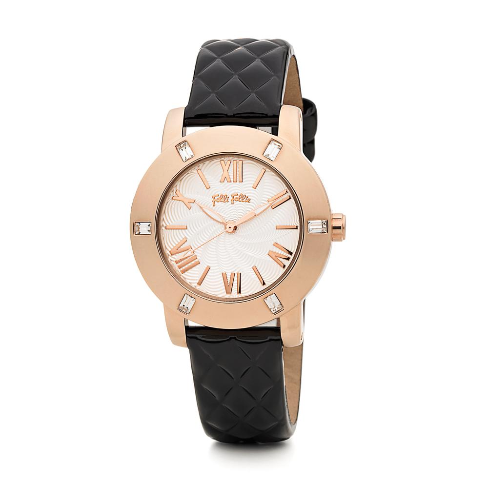 FOLLI FOLLIE - Γυναικείο δερμάτινο ρολόι FOLLI FOLLIE DONATE...
